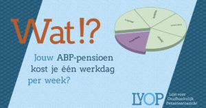 Jouw ABP-pensioen kost je één werkdag per week?